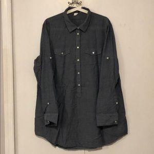 J Crew Great condition half Button shirt .